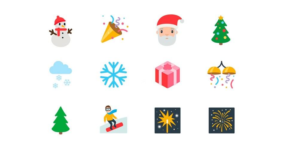 Christmas Emoji Tree Santa Claus Jingle Bells Emoji Blog